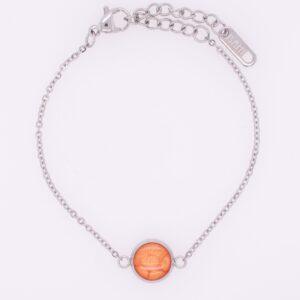 Armketten, Armbänder, bunt, handmade, Edelstahl, handgefertigt, hypoallergen, farbecht, wasserfest, orange, mandarine