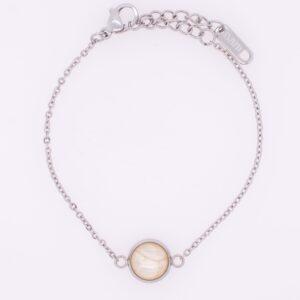 Armketten, Armbänder, bunt, handmade, Edelstahl, handgefertigt, hypoallergen, farbecht, wasserfest, perle, pearl, weiß