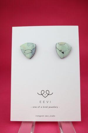 Ohrring, Ohrstecker, Ohrhänger, weiß, poly, polymer, clay, blau, marmor