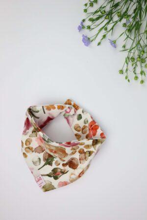 Blumen, Rosen, Rosenmeer, rot, orange, Dreieckstuch, Tuch, Lätzchen, Baby, Babykleidung, Babyausstattung