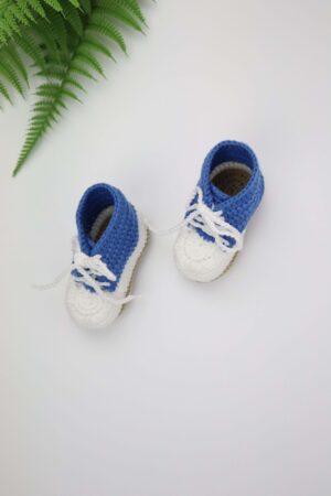 Newborn, blau, New-born, Babyschuhe, Schuhe, gehäkelt, Häkelschuhe, Geburt