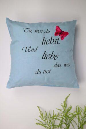 blau, hellblau, Schmetterling, Polster, Kissen