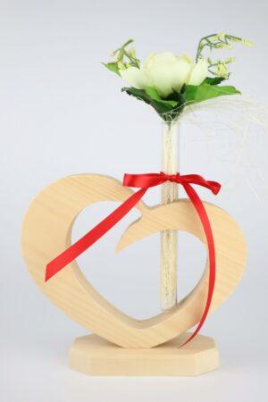 Herz, Zirbe, Zirbenholz, Holz, Vase, Blume, Blumenvase