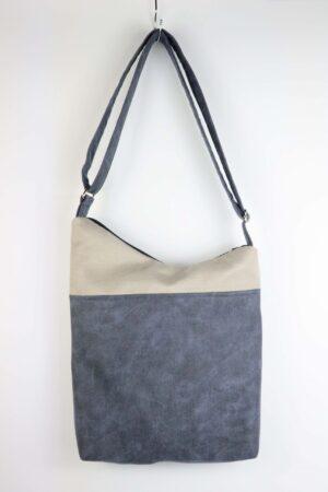 Handtasche, Tasche, Umhängetasche, jeansblau, jeans, grau, hellgrau