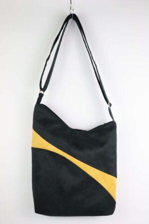 Handtasche, Tasche, Umhängetasche, gelb, schwarz, ocker, senfgelb