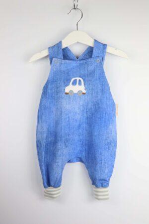 Latzhose, blau, Auto, Babyhose, Jungshose, Kinderhose