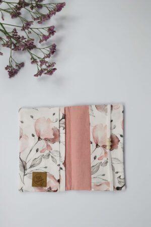 Magnolie, Blume, Blätter, rosa,rot, Mutter-Kind-Pass, Mutterpass-Hülle, Hülle, Dokument, Ausweis