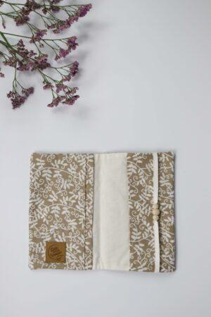 Zweige, Blätter, beige, Mutter-Kind-Pass, Mutterpass-Hülle, Hülle, Dokument