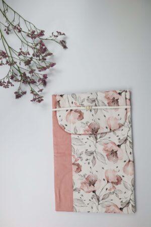 wickeln, Magnolie, Blume, Blätter, rosa,rot, Windeltasche, Windel, Tasche, Baby
