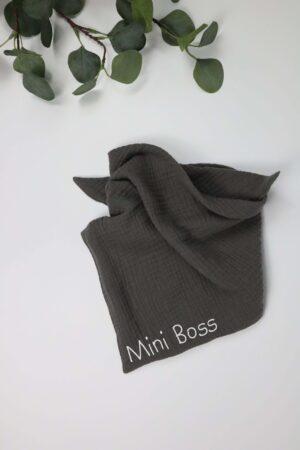 grau, Mini Boss, Boss, Tuch, Dreieckstuch, Musselin, Musselintuch