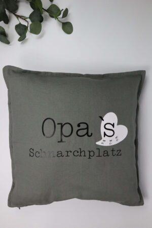 Kissen, Polster, grau, Opa, schnarchen, Schnarchplatz