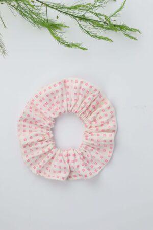 Scrunchie, Haargummi, rosa, weiß, Blümchen, Kästchen, Haare, badhairday