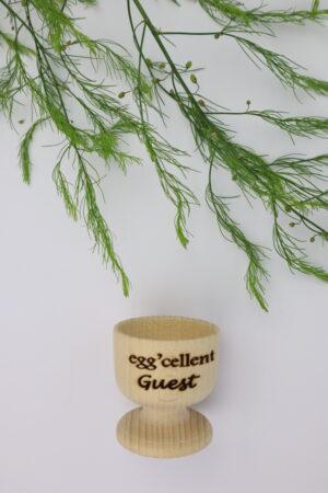 Eierbecher, Becher, Ei, Frühstück, Holz, Gast, Guest, eggcellent guest