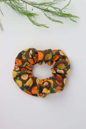 Scrunchie, Haargummi, Orangen, gelb, orange, grün, natur, braun, Haare, badhairday