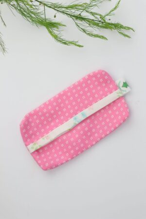Taschentüchertasche, Taschentücherbox, Tatüta, Taschentücher, rosa, weiß, Kästchen, nachhaltig, Baumwolle