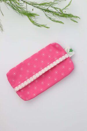 Taschentüchertasche, Taschentücherbox, Tatüta, Taschentücher, rosa, weiß, Blümchen, nachhaltig, Baumwolle