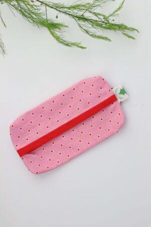 Taschentüchertasche, Taschentücherbox, Tatüta, Taschentücher, rosa, rot, getupft, Tupfen, nachhaltig, Baumwolle