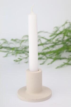 Kerze, Kerzenhalter, Stabkerze, Stabkerzenhalter, Beton, grau