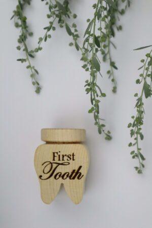 Zahn, Milchzahn, Zahndose, Zahnbox, Dose, Holz, Zahnfee