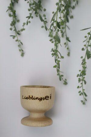 Liebling, Lieblingsei, Holz, Ei, Eier, Eierbecher, Becher, Frühstück,