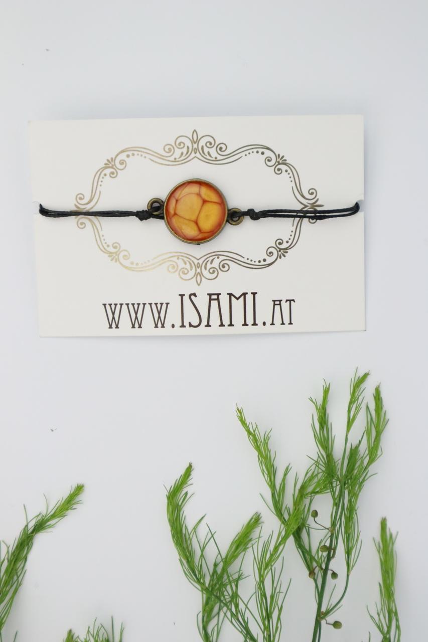 Armband, Armschmuck, Armcandy, Armkette, Schmuck, Handmade, orange,