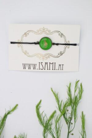 Armband, Armschmuck, Armcandy, Armkette, Schmuck, Handmade, notenschlüssel, note, musik, grün, kupfer, rose,