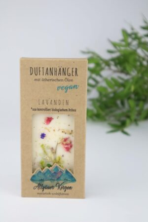 Lavendel, Lavandin, Duft, Duftanhänger, Anhänger, Wachs, Blumen, Blüten, ätherisches Öl, vegan