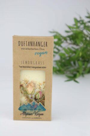 Lemongrass, Zitronengras, Duft, Duftanhänger, Anhänger, Wachs, Blumen, Blüten, ätherisches Öl, vegan
