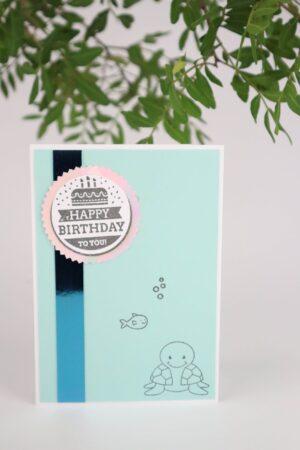 Geburtstag, Schildkröte, Fisch, Geburtstagskarte, Karte, Grußkarte, Papier