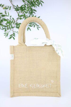 Geschenktasche, Geschenk, Jutetasche, Geschenkverpackung, nachhaltig, natur, natürlich, Kleinigkeit